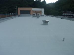 太宰府市 筑紫台高校 工業実験館 屋上防水工事 完了