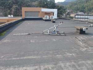 太宰府市 筑紫台高校 工業実験館 屋上防水工事 施工前
