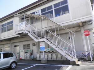筑紫野市 市役所 外部階段 塗装工事 施工前