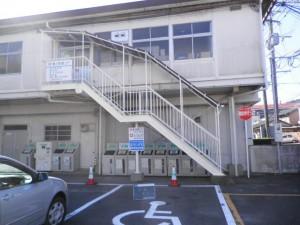 筑紫野市 市役所 外部階段 塗装工事 完了