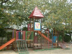 太宰府市 水城幼稚園 遊具 塗装工事 完了