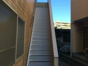 筑紫野市 Tコーポ 階段 塗装工事 完了