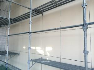 竹田ビル 玄関廻り 壁塗装完了