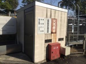 筑紫野市 U幼稚園 ゴミ置き場 塗装工事 施工前