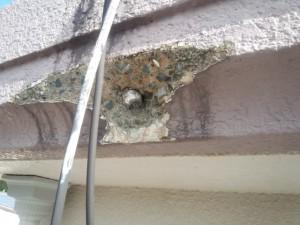 太宰府市 塗装工事 下地処理 爆裂斫り完了