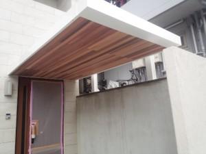 福岡市 中央区 S様邸 玄関庇 塗装工事