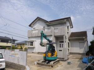 福岡県 粕屋郡 H様邸 エクステリア リフォーム 解体施工中