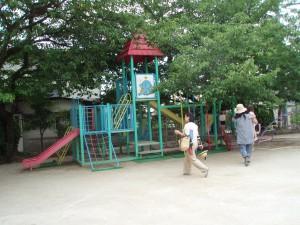 太宰府市 水城幼稚園 遊具 塗装工事 施工前