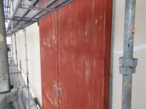 福岡市東区 カガミ産業 搬入口封鎖工事 施工前