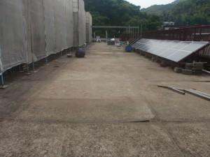 太宰府市 筑紫台高校 ルーフバルコニー 防水工事 施工前