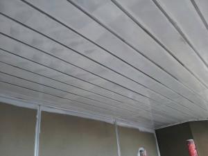 福岡市 東区 JA 塗装工事 軒天 下塗り完了