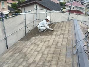 宇美町 塗装工事 K様 屋根塗装 ケレン作業施工中