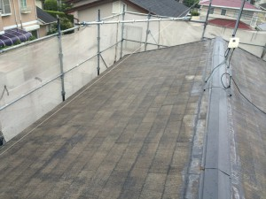 宇美町 塗装工事 K様 屋根塗装 高圧洗浄完了