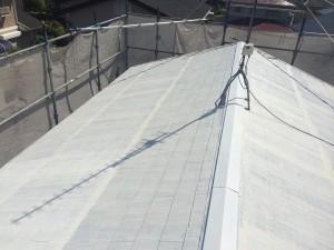 宇美町 塗装工事 K様邸 屋根 遮熱下塗り完了