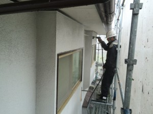太宰府市 塗装工事 N様邸 外壁 高圧洗浄施工中