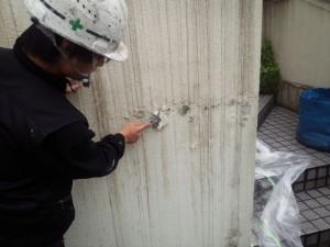 太宰府市 塗装工事 M様邸外塀 塗膜浮きケレン撤去