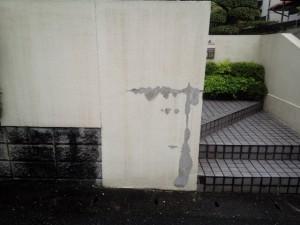 太宰府市 塗装工事 M様邸外塀 高圧洗浄 完了