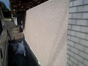 太宰府市 塗装工事 S様邸 外塀 上塗り完了