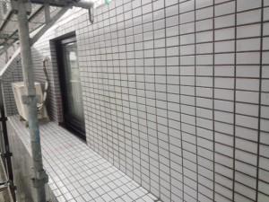 春日市 塗装工事 バジェットホテル タイル洗浄 完了