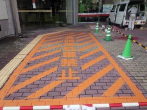 宗像市 竹田ビル 塗装工事 ライン塗装