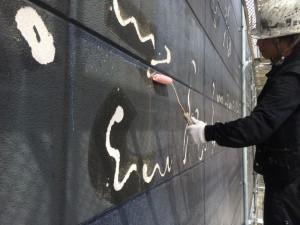 福岡市 レッドキャベツ福岡空港店 外壁 塗装工事 下塗り