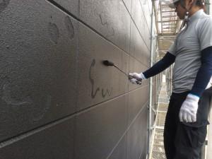 福岡市 レッドキャベツ福岡空港店 外壁 塗装工事 上塗り
