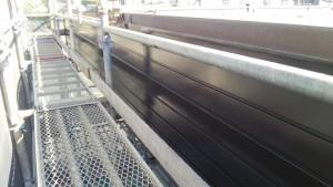 福岡市 東区 JA 塗装工事 パラペット 上塗り 完了