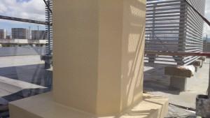福岡市 東区 JA 塗装工事 煙突 上塗り1回目 完了