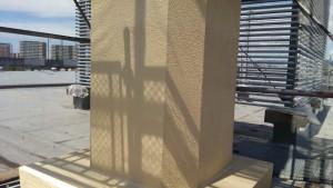 福岡市 東区 JA 塗装工事 煙突 上塗り2回目 完了