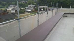 筑紫野市 JA阿志岐支店 塗装工事 パラペット 上塗り2回目 完了