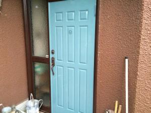 福岡県 粕屋郡 K様邸 玄関 塗装工事 完了
