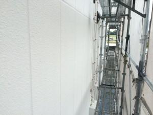 筑紫野市 塗装工事 JA阿志岐支店 外壁 下塗り 完了