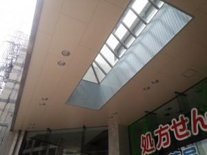 福岡県 宗像市 竹田ビル 玄関天井 塗装工事 完了