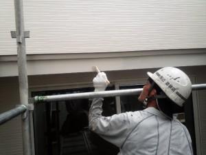 福岡県 粕屋郡 新築 塗装工事 幕板施工中