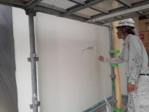 小郡市 Y様邸 新築 塗装工事 上塗り2回目
