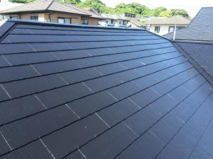 筑紫野市 F様邸 塗装工事 屋根 上塗り1回目 完了