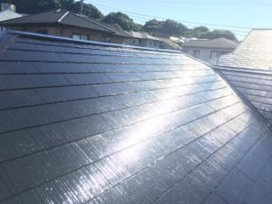 筑紫野市 F様邸 塗装工事 屋根 上塗り2回目 完了