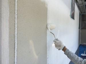 筑紫野市 F様邸 塗装工事 外壁 下塗り