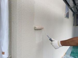 筑紫野市 F様邸 塗装工事 外壁上塗り2回目
