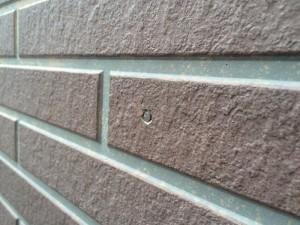 サイディング外壁 釘打ち込み 完了