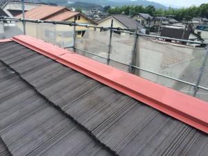 大野城市 I様邸 塗装工事 屋根棟板金 錆止め施工完了