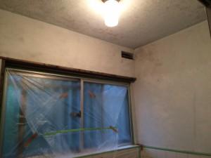 大野城市 塗装工事 白木原アパート 浴室 壁天井 施工前
