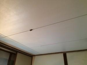 大野城市 塗装工事 白木原アパート リビング 天井 完了