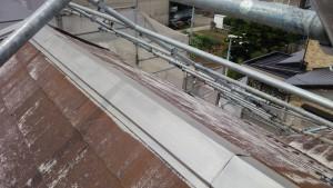 久留米市 アイゼン通運 塗装工事 屋根棟板金 錆転換剤 完了