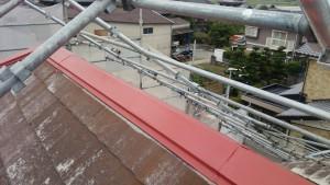 久留米市 アイゼン通運 塗装工事 屋根 棟板金 上塗り1回目 完了