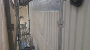 久留米市 塗装工事 アイゼン通運 外壁 下塗り 完了