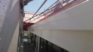 久留米市 塗装工事 アイゼン通運 破風塗装 完了