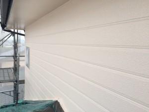 大野城市 塗装工事 I様邸 外壁 上塗り1回目 完了