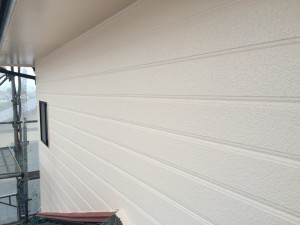 大野城市 塗装工事 I様邸 外壁 上塗り2回目 完了