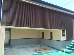 福岡県 粕屋郡 塗装工事 木格子塗装 施工前
